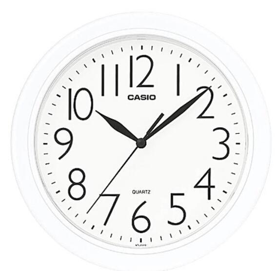 CASIO 居家必備 經典流線大方指針圓形掛鐘-IQ-01S