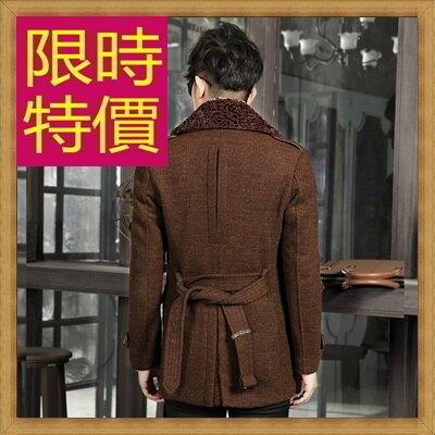 毛呢外套男大衣-羊毛保暖短版男風衣2色62n51【韓國進口】【米蘭精品】