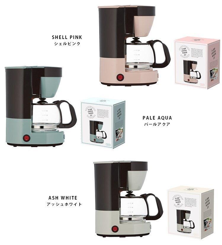 日本【Toffy】復古造型咖啡機 馬卡龍家電 4人份 650ml K-CM1