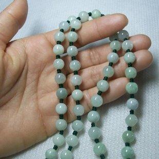 翡翠玉珠子項鏈玉石玉器吊墜掛繩 手工編織玉佩玉墜高檔掛鏈