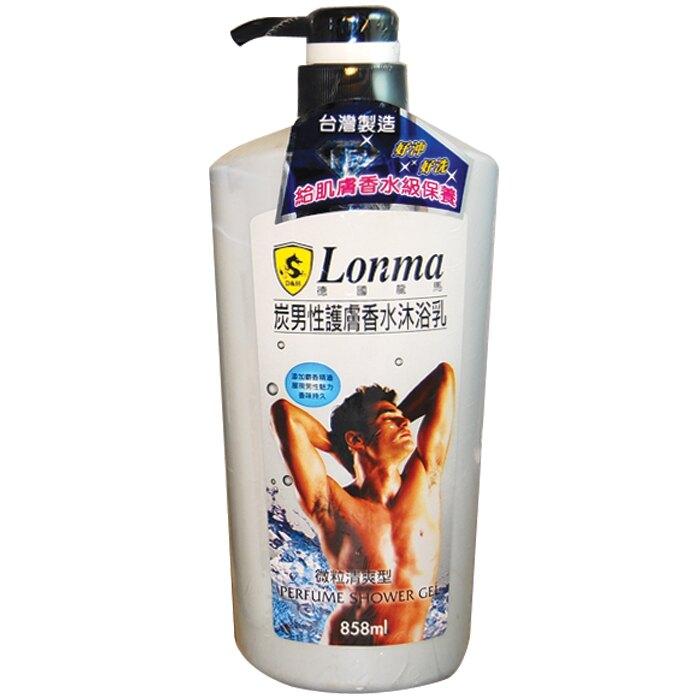 龍馬 炭男性護膚香水-微粒清爽型 沐浴乳 858ml【康鄰超市】