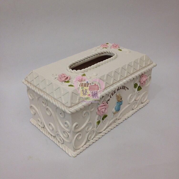 比得兔PeterRabbit 鍛鐵面紙盒/紙巾盒, 同系列另有壁鐘/置物罐可搭配