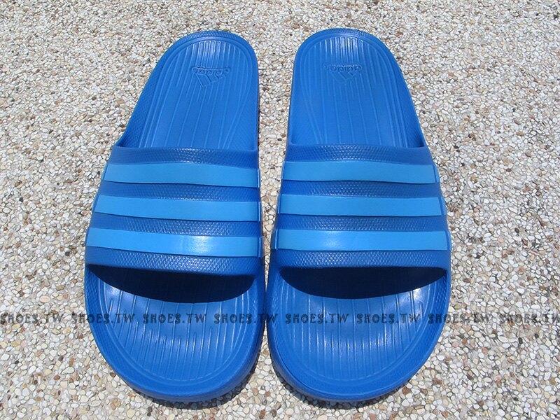 ADIDAS【B44297】DURAMO SLIDE 拖鞋 一體成型 藍 天空藍 男女生都有