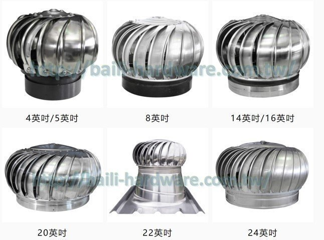 430材質 22吋 自然排風球 屋頂通風器 免電力排風扇 烤漆板用
