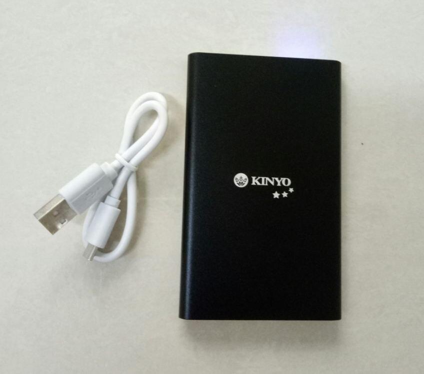 KINYO KPB-50 超薄型鋁合金行動電源 充電 行充 超薄 外出  方便