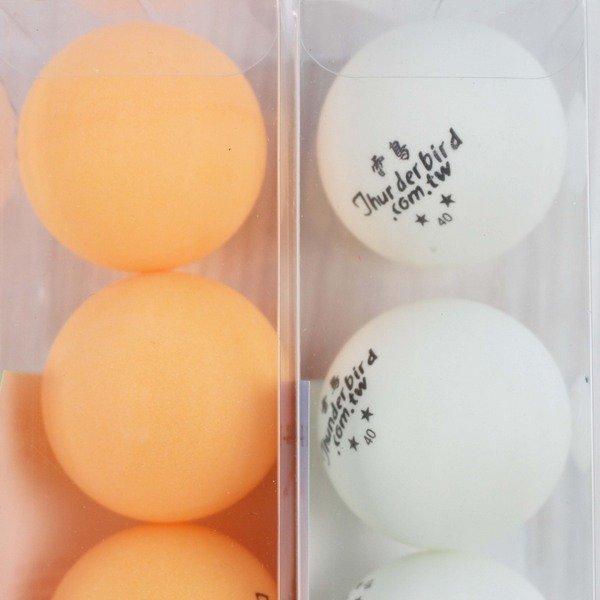 雷鳥桌球 6入 乒乓球 LT-148 直徑40mm/一箱12筒入(定70) 練習用桌球 有橘色 白色