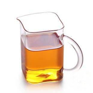 250ml方形矩型公道杯手工藝耐高溫玻璃茶海功夫茶具四方個性時尚1入