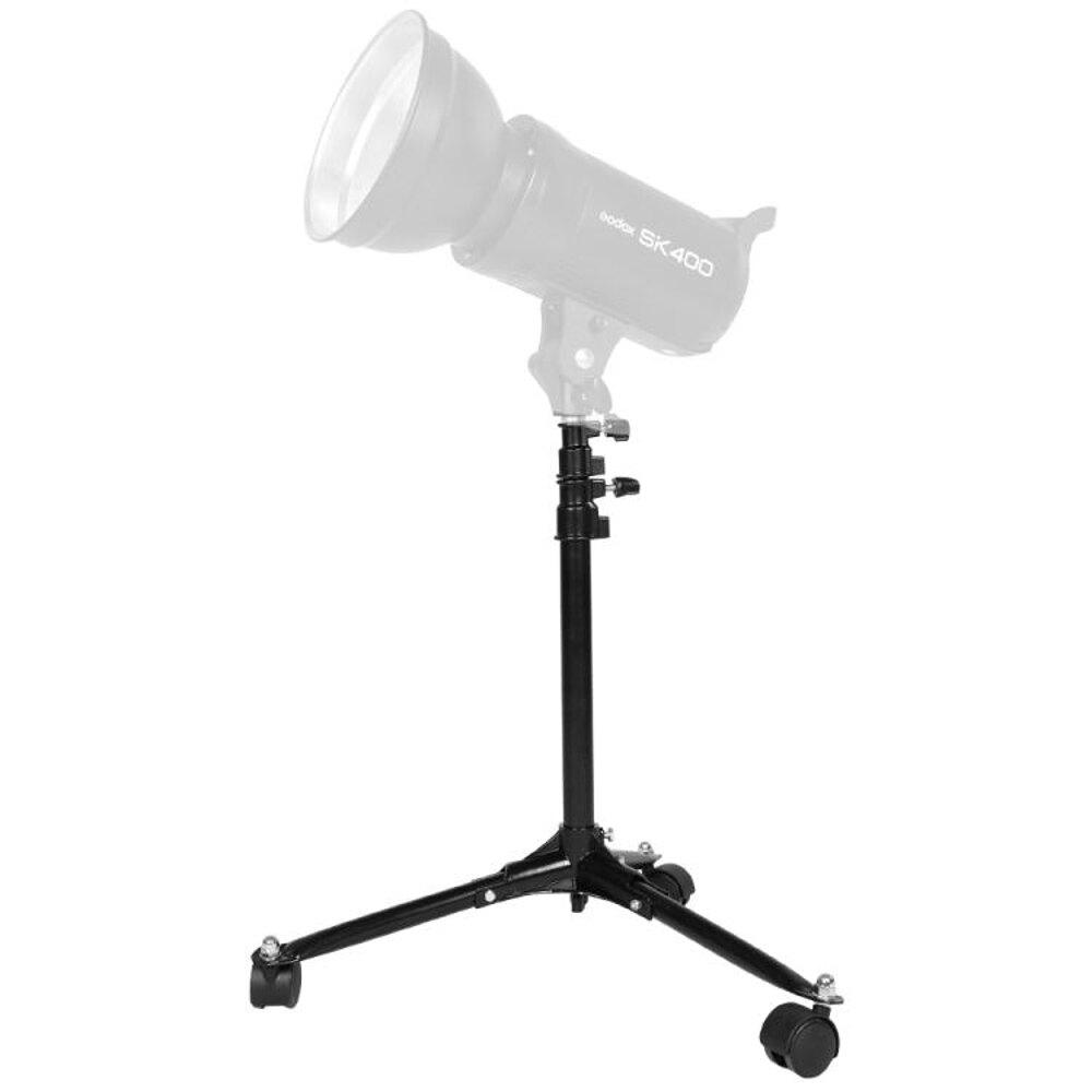 攝影閃光燈70cm帶輪地燈架可伸縮影室燈移動背景燈支架影棚附件 領券下定更優惠