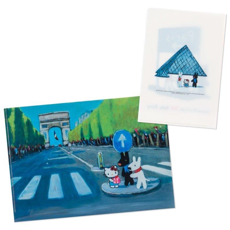 文件夾 日本 三麗鷗 卡斯柏與麗莎 kitty 2入組L型 日本進口正版授權