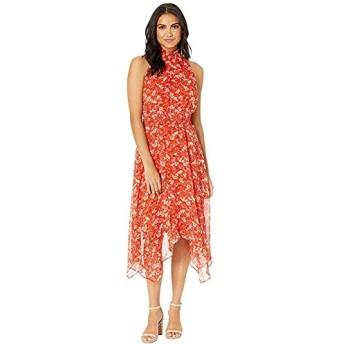 [Sam Edelman(サムエデルマン)] ドレス・ワンピース Smocked Midi Hanky Hem Dress Coral Multi 21cm [並行輸入品]