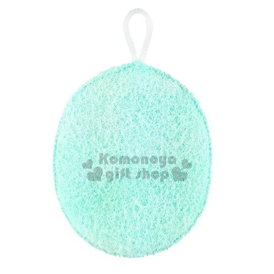 【領券折$30】小禮堂 日製身體沐浴澡棉《2款.隨機出貨.綠/粉.橢圓》晶瑩美肌.可放入香皂