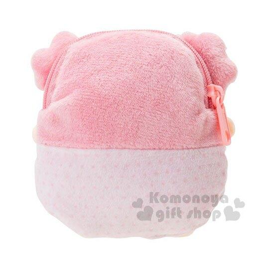 小禮堂 雙子星LALA 迷你造型絨毛零錢包《粉》收納包.耳機包