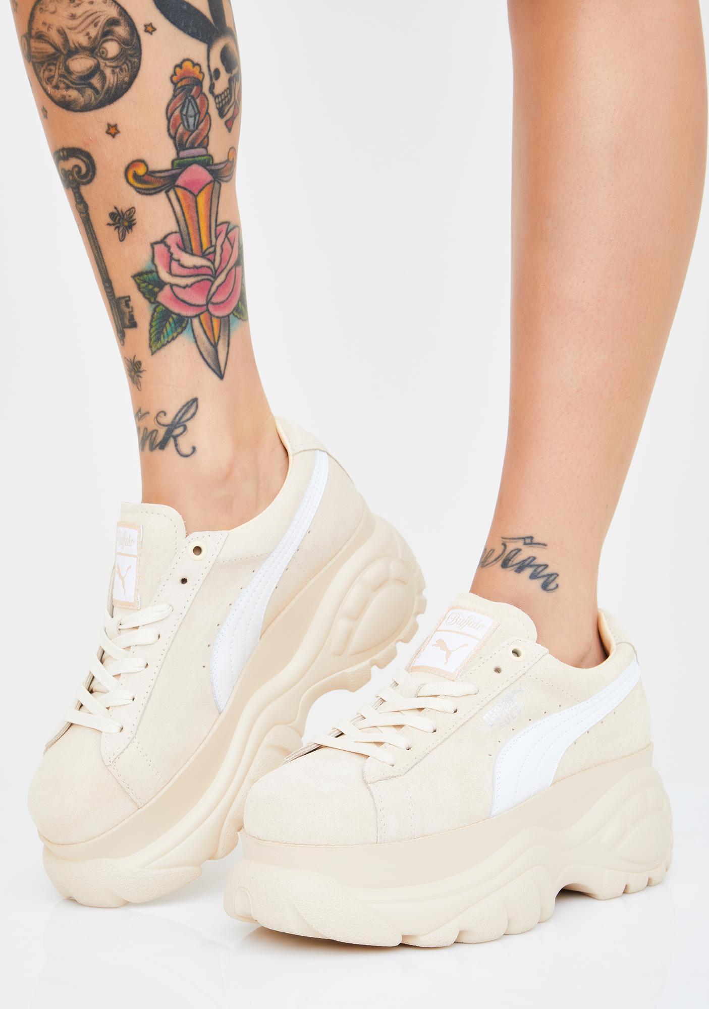 KUMO SHOES-現貨 Puma X Buffalo 膚色 裸色 厚底鞋 增高鞋 女鞋 368499-04
