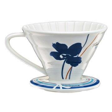 金時代書香咖啡  TIAMO V02陶瓷咖啡濾器組 附量匙.滴水盤 HG5547B