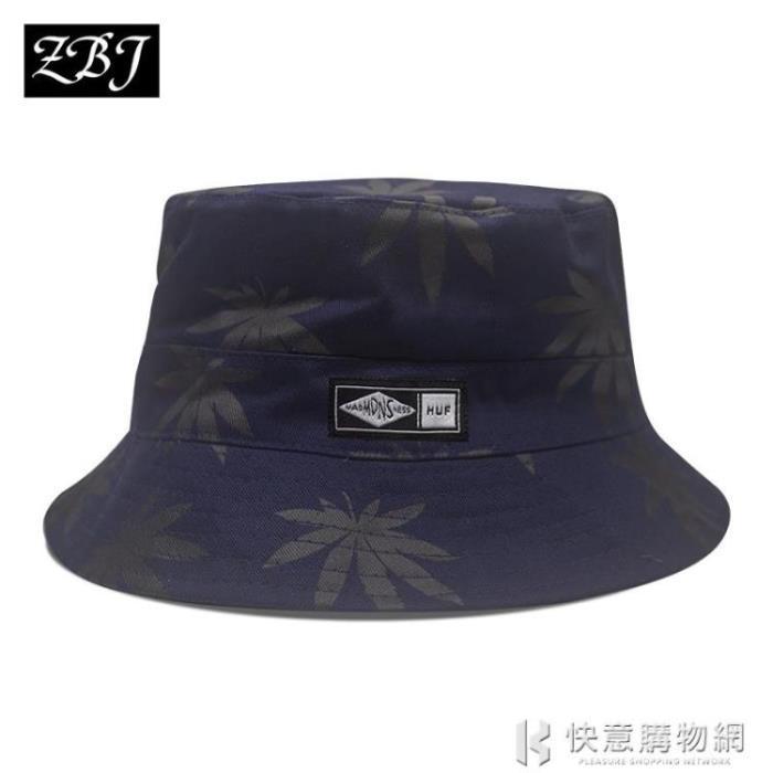 漁夫帽男潮牌嘻哈大碼雙面盆帽同款帽子女韓版夏防曬遮陽帽