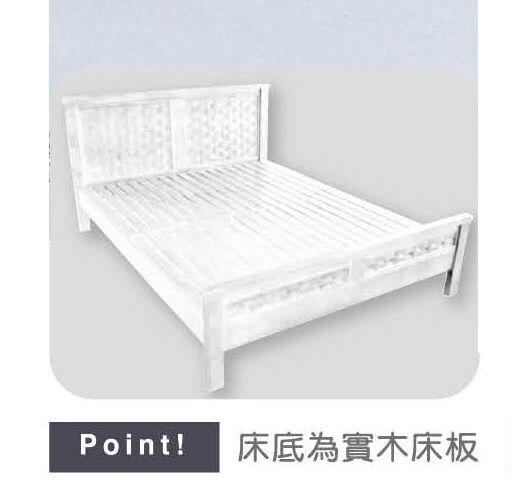 【石川家居】YE-A54-01 瑪莎白色3.5尺床台 (不含床墊及其他商品) 台北到高雄搭配車趟免運