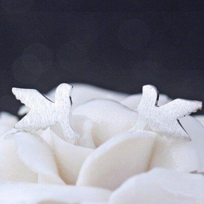 ★925純銀耳環 耳針式耳飾-可愛獨特動物七夕情人節生日禮物女飾品73al71【獨家進口】【米蘭精品】