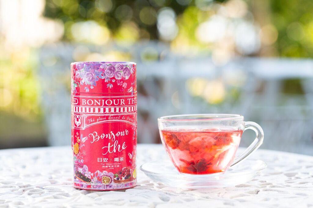 日安喝茶~覆盆子慕斯風味茶 12入茶包精緻粉紅罐