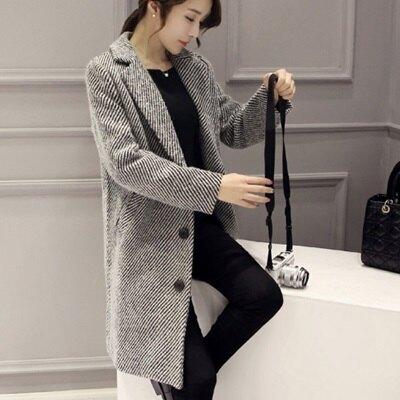 毛呢大衣中長款風衣外套-時尚百搭氣質修身女外套73ki42【獨家進口】【米蘭精品】