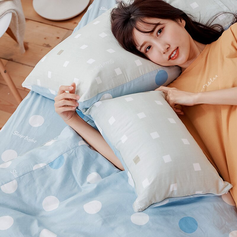 床包 / 雙人加大-100%精梳棉【點點小宇宙-水星藍】含兩件枕套 戀家小舖  台灣製 消費滿3千送點數10% 母親節推薦