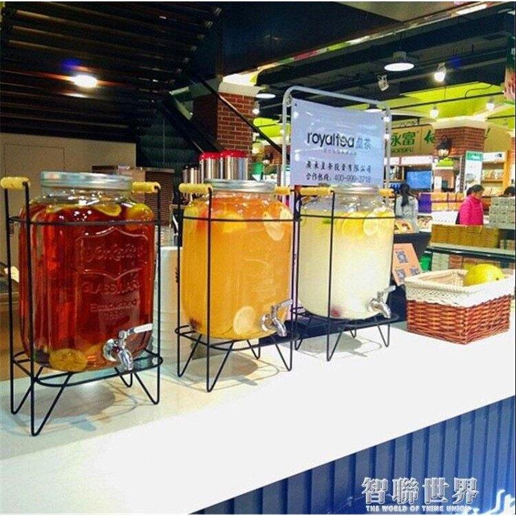 飲料桶 無鉛玻璃果汁罐帶龍頭泡酒酵素瓶酵素桶蜂蜜檸檬百香果密封罐家用 ATF