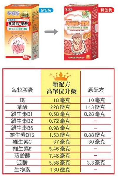 孕哺兒 凍晶鐵+葉酸膠囊(60顆/瓶)