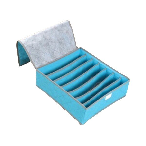7格 彩色有蓋竹炭收納盒 內褲收納盒 襪子收納盒 換季收納 隨機出貨