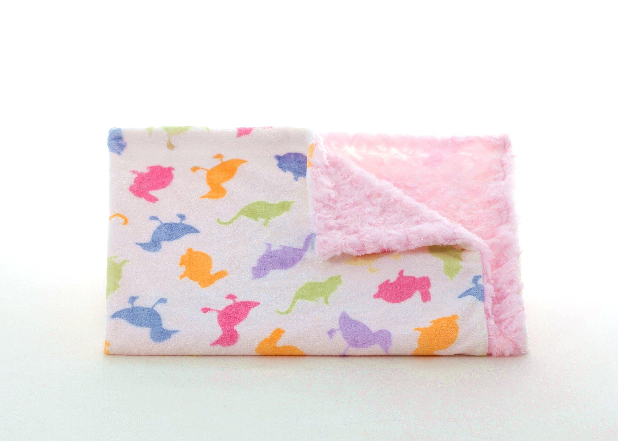 ★啦啦看世界★ 美國製 Tourance 朵蕾花苞毯 / 小小農場粉紅花苞 彌月禮 出生禮 月子 手工毯 寶寶毯 嬰兒毯 滿月 柯以柔 美國毯