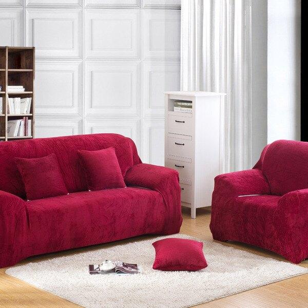 沙發套法蘭絨沙發罩【RS Home】最新45款沙發罩彈性沙發套沙發墊北歐工業床墊保潔墊彈簧床折疊沙發 [送抱枕套]