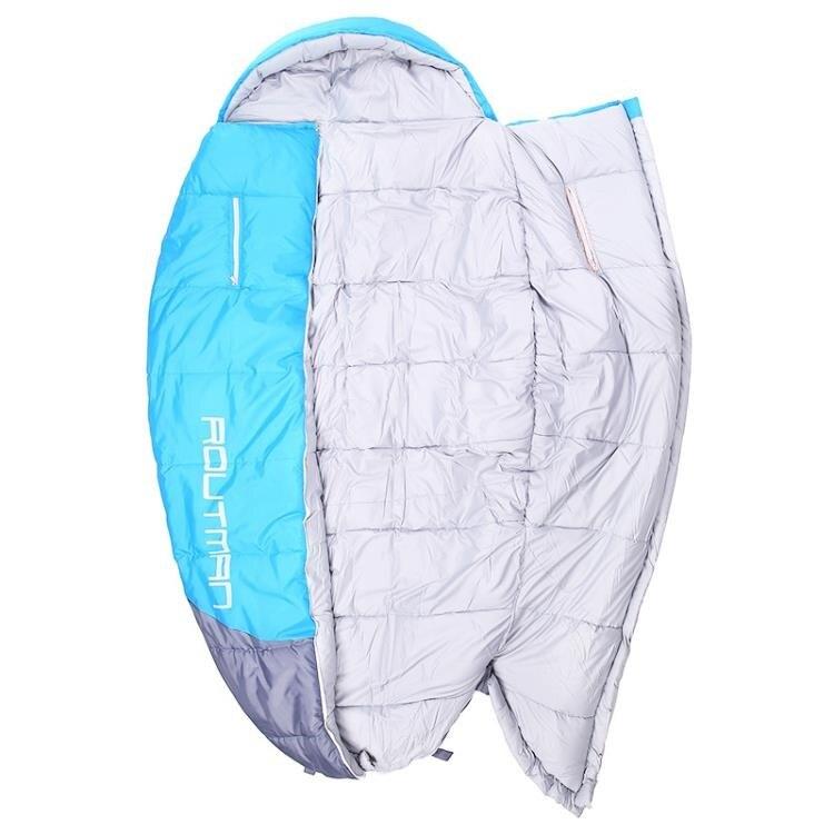 睡袋路特曼伸手睡袋成人室內加大加寬超大號戶外用品夜班值班胖子睡袋