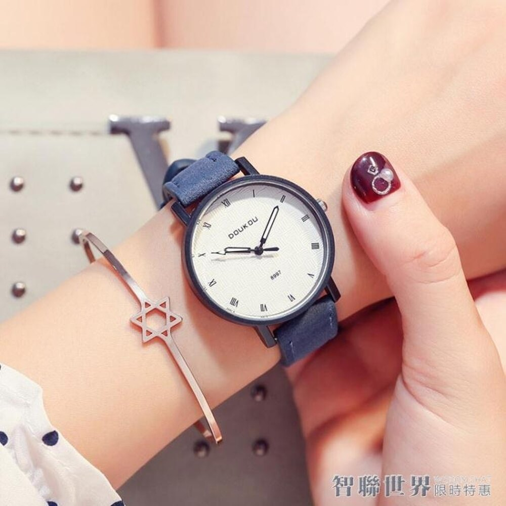 正韓時尚大氣學生學院風潮流復古羅馬簡約手錶女 智聯 新春鉅惠