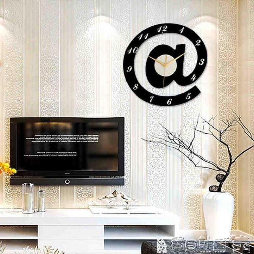 壁貼時鐘 掛鐘客廳創意簡約數字靜音機芯時鐘表擺個性藝術掛鐘墻貼壁鐘JD 寶貝計畫