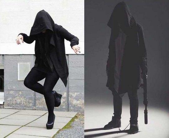 巫師 戰袍 連帽外套 四季皆可 穿搭使用 外套 黑外套 燕尾 黑服 帽子 外套 潮流外套