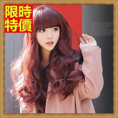 女假髮整頂假髮長假髮-齊瀏海長捲髮甜美可愛女美髮用品3色69o41【獨家進口】【米蘭精品】