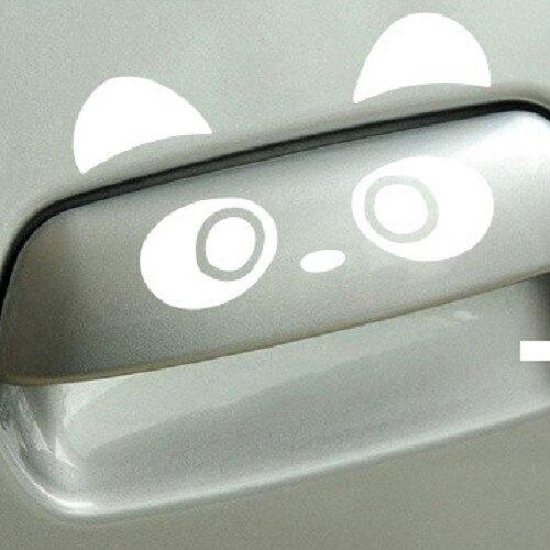 可愛熊貓 把手車貼 AUDI VW FORD BMW BENZ TOYOTA VW 三菱 SUBARU A0465