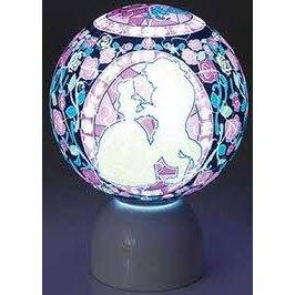 【預購】日本進口新上市!正版 迪士尼立體透明拼圖小夜燈 美女與野獸【星野日本玩具】