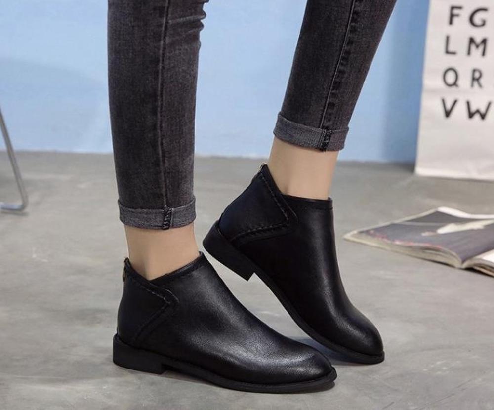 靴子 馬丁靴女英倫風百搭短靴平底韓版踝靴復古靴子  瑪麗蘇
