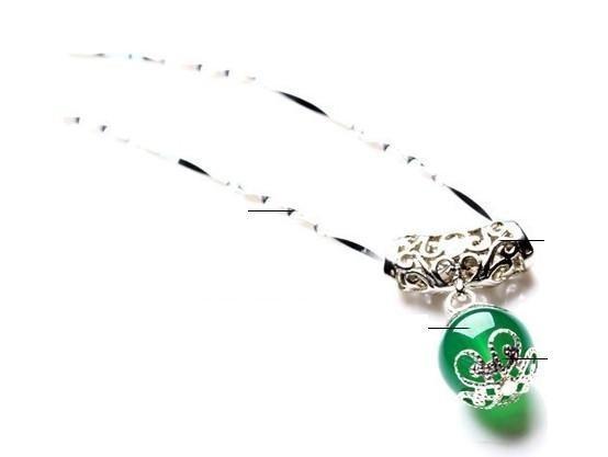 綠瑪瑙吊墜 夏季女生必備水晶 珠吊墜