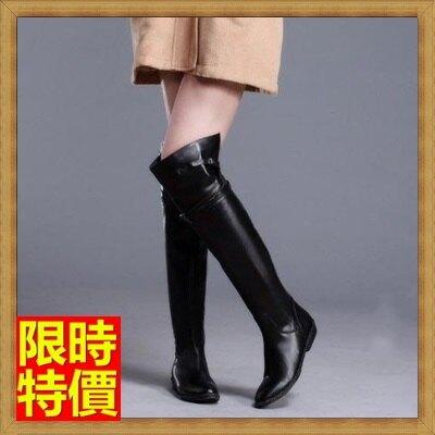 ★過膝長靴 女鞋子-歐美時尚帥氣平跟真皮女靴子2款71ab3【獨家進口】【米蘭精品】