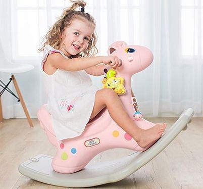 兒童木馬搖馬玩具加厚大號塑膠搖搖馬帶音樂小寶寶一周歲交換禮物