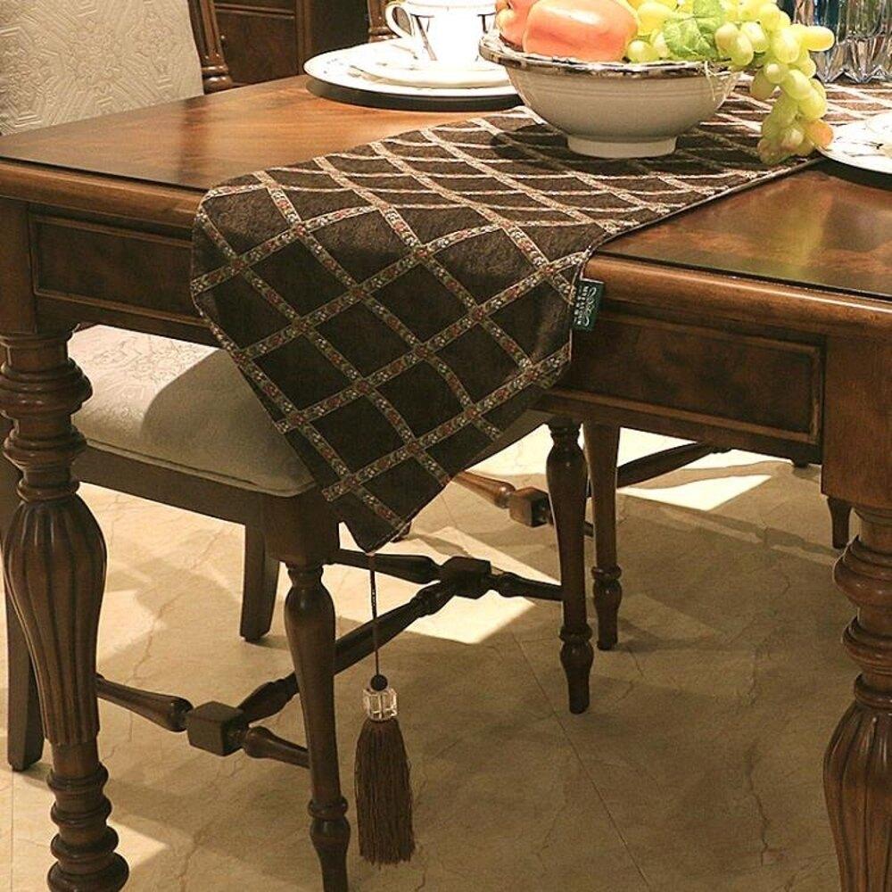 桌旗 歐式餐椅坐墊桌旗椅墊西餐桌台布電視邊櫃茶幾巾椅子凳子簡約座墊   【歡慶新年】