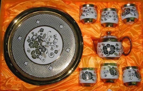 雙層杯 8頭牡丹金盞花  (一套)