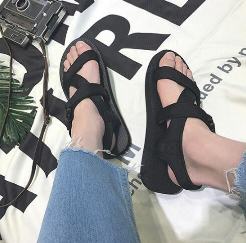 FINDSENSE MD 日系 流行時尚 潮 男 舒適百搭 鬆糕鞋 羅馬涼鞋 拖鞋 海灘鞋