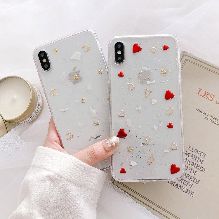 月亮愛心透明殼 iPhone手機殼 #C1743