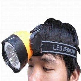 【1瓦頭燈-電池款-1WLED-射距20~40米-燈徑6.5cm-1套/組】超大燈頭高亮度野營頭燈 使用3節電池(不含電池)-76012