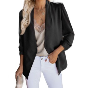 VITryst Women's Open Front Cardigan Outwear Loose Casual Small Blazer Black XL