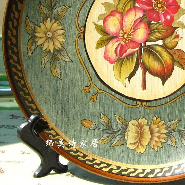 田園彩繪陶瓷擺盤 掛盤 裝飾盤 看盤 家居裝飾品 BP022 新家擺飾
