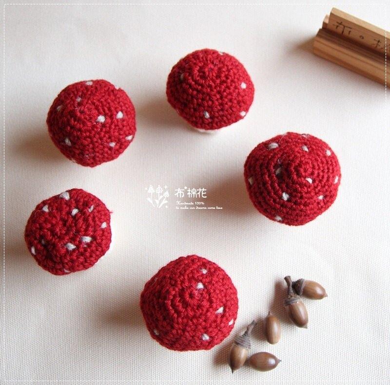 【布棉花】手創, 手作毛線美食 毛線香菇, 毛線蕈菇, 斑點蕈菇, 鑰匙圈 婚禮小物