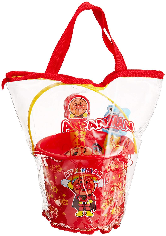 JOYPALETTE ANPANMAN 麵包超人 玩沙 挖砂 挖沙 沙灘 海邊 玩具組 洗澡 水桶 附手提袋【代購】【星野日貨】