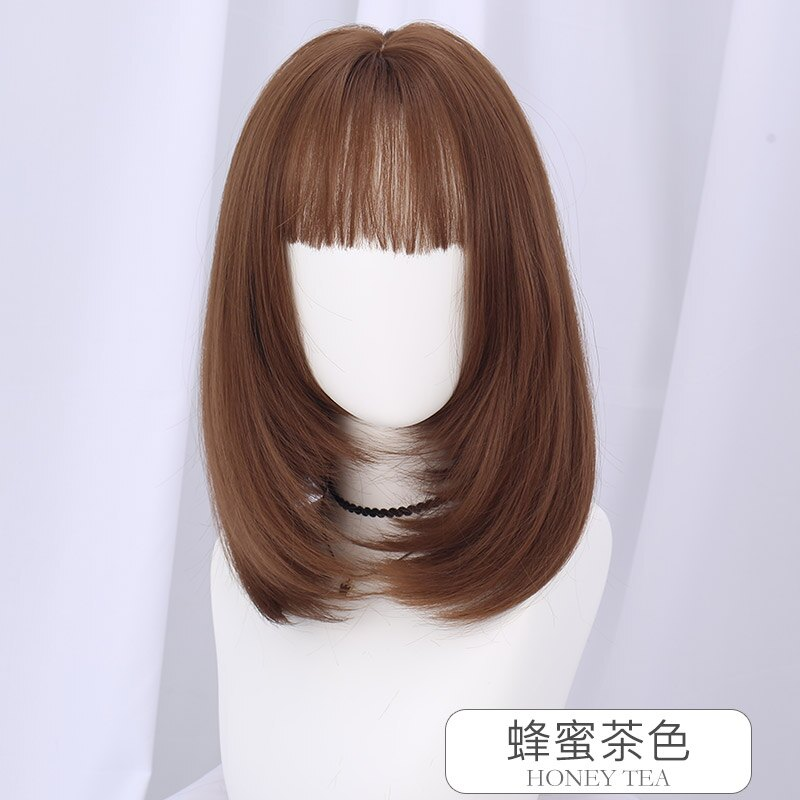 長假髮整頂假髮-法式瀏海及肩鎖骨髮女假髮4色73vs39【獨家進口】【米蘭精品】